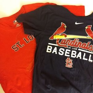 Lot of 2 St. Louis Cardinals T-shirts EUC